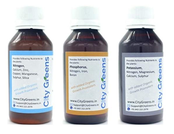 All-in-One fertilizer in 3 bottles