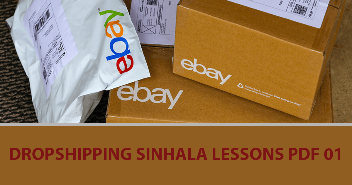 How To Get Started On Ebay Dropshipping Sinhala Lessons Pdf 01