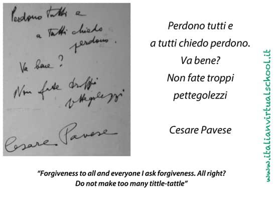 Cesare Pavese, ultimo messaggio