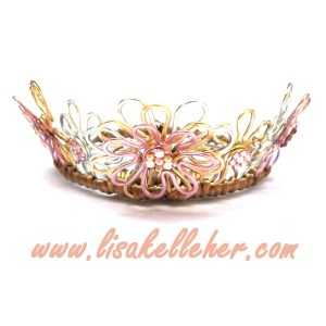 Daisy Chain Floral Crown Mixed Gold - White, Yellow, Rose