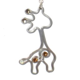 Baby Giraffe Pendant Silver