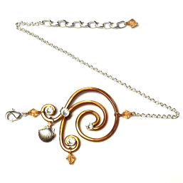 Spiral Wave Anklet Copper
