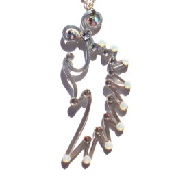 Angel Wing Pendant Silver Moonlight