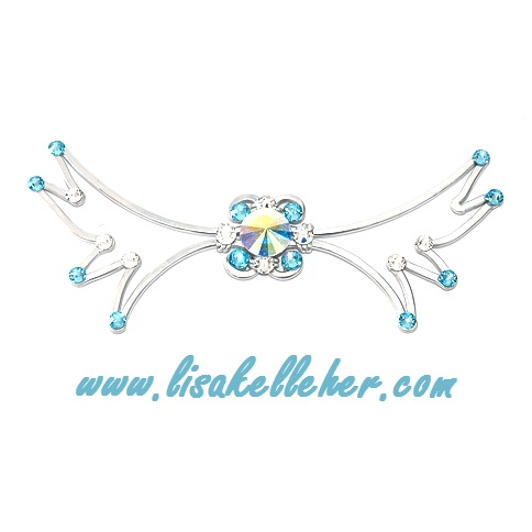 Angel Wings Bow Tie Aquamarine Main