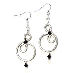 Bubbles Earrings Charcoal Armour