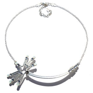 Dandelion Wish Necklace Silver Moonlight