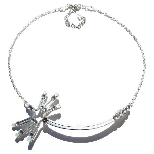 Dandelion Wish Necklace Silver Moonlight