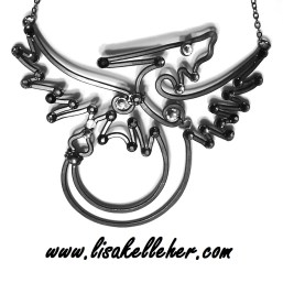 Dragon Necklace Black and White Main
