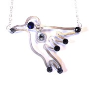 hummingbird-necklace-silver-blue-steel