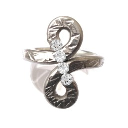 Pewter Infinity Ring Adjustable