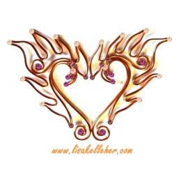 Phoenix Flames Elf Ears Copper Sunset