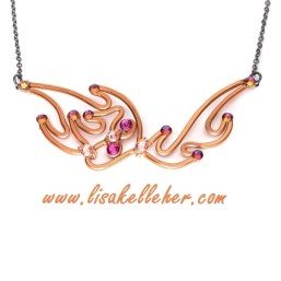Pheonix Flames Necklace Copper Sunset Main