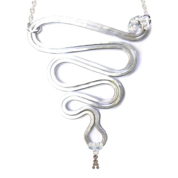 Snake Necklace Silver Moonlight Main