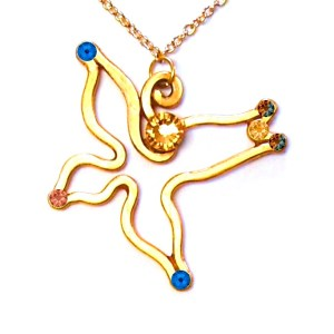 Swallow Pendant Gold