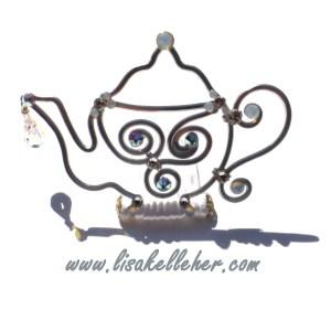 Teapot Tiara Silver Moonlight