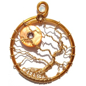 Tree of Life Honey Moon Pendant Gold Sunlight Main