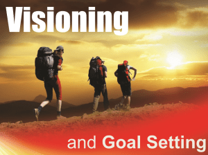 Visioning and Goal Setting