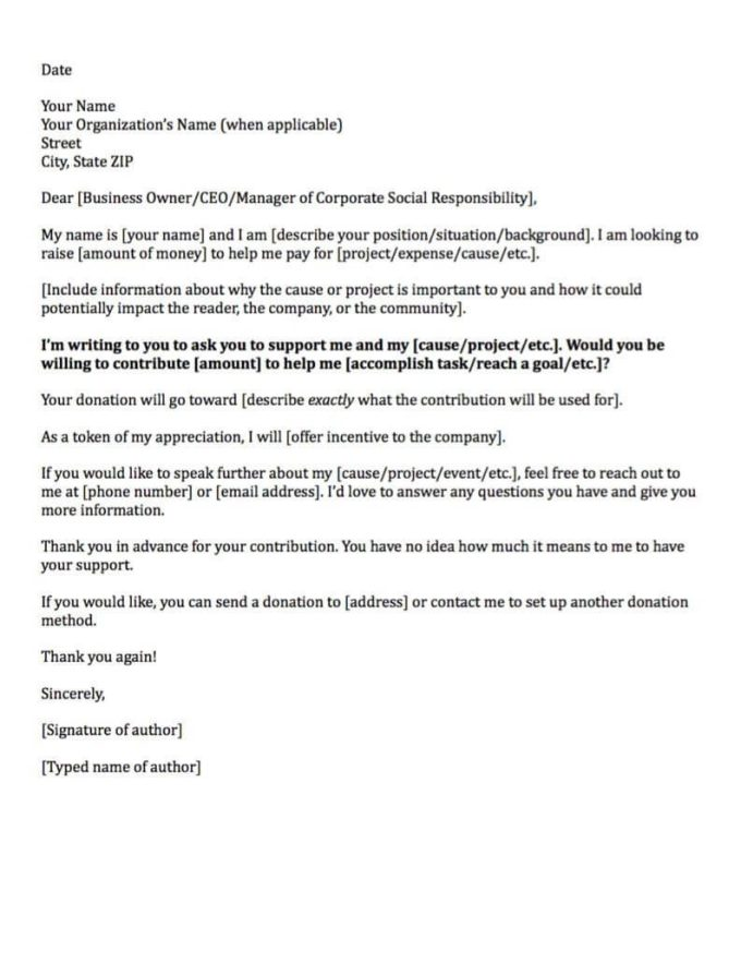 corporate donation request letter template fundraising made effortless with 13 donation request letters