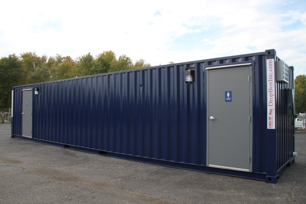 restrooms containers