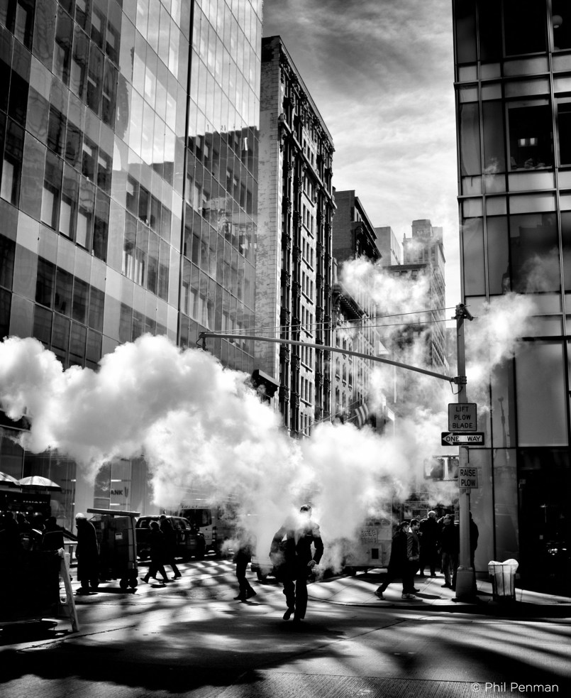March 19th 2015: Pictures taken of Steam clouds on 6th Avenue in New York City, USA.