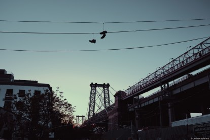 capture one RAW photo editor get creative with color blogpost jesper palermo NYC shoes hanging overhead wires