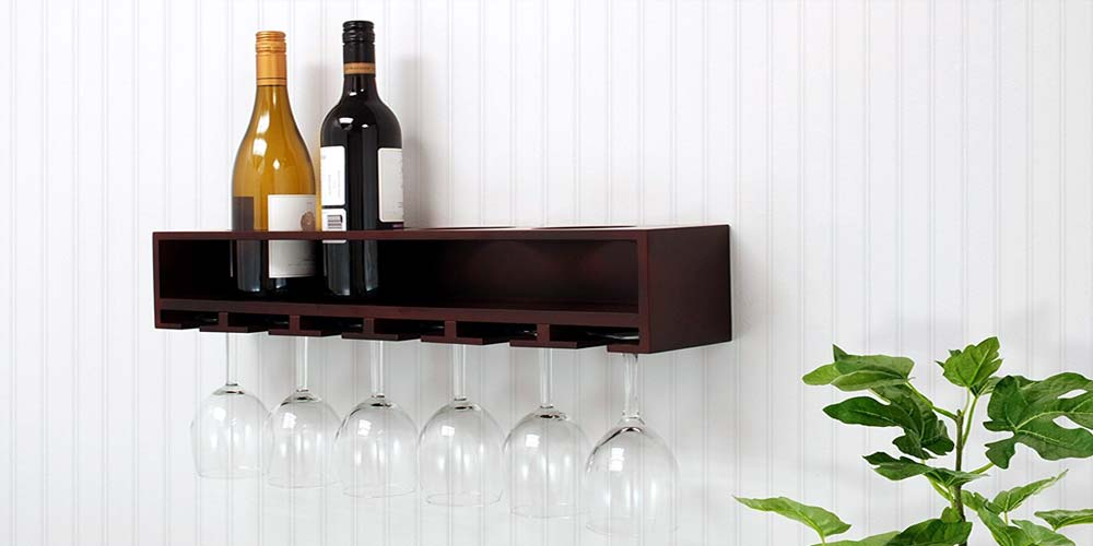 how to use a wall mounted wine rack as