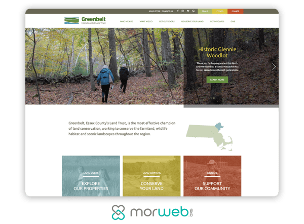 engaging site design imagery
