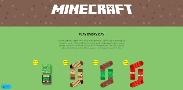 happy socks minecraft