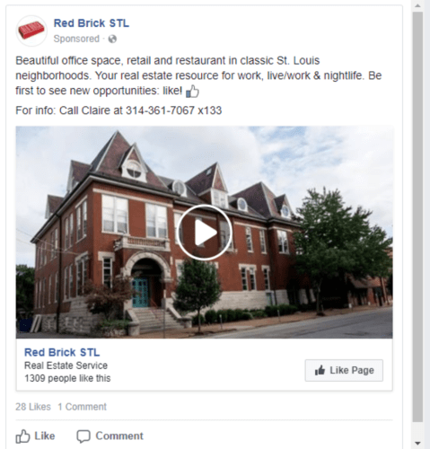 video real estate facebook ad example