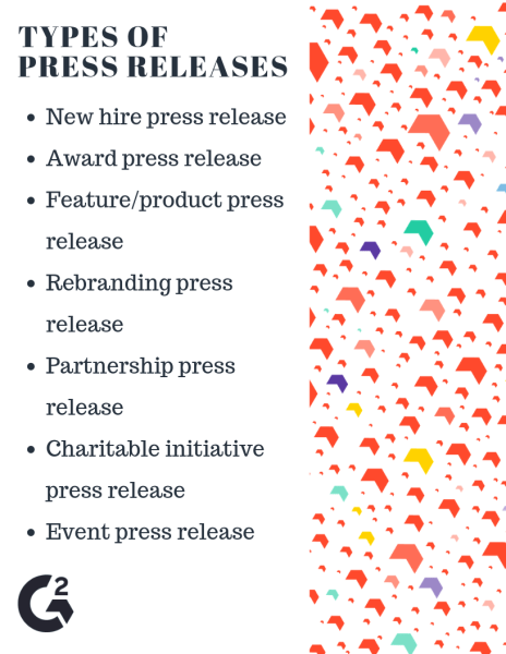 Types of press releases