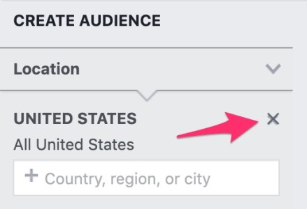 location section within audience insights