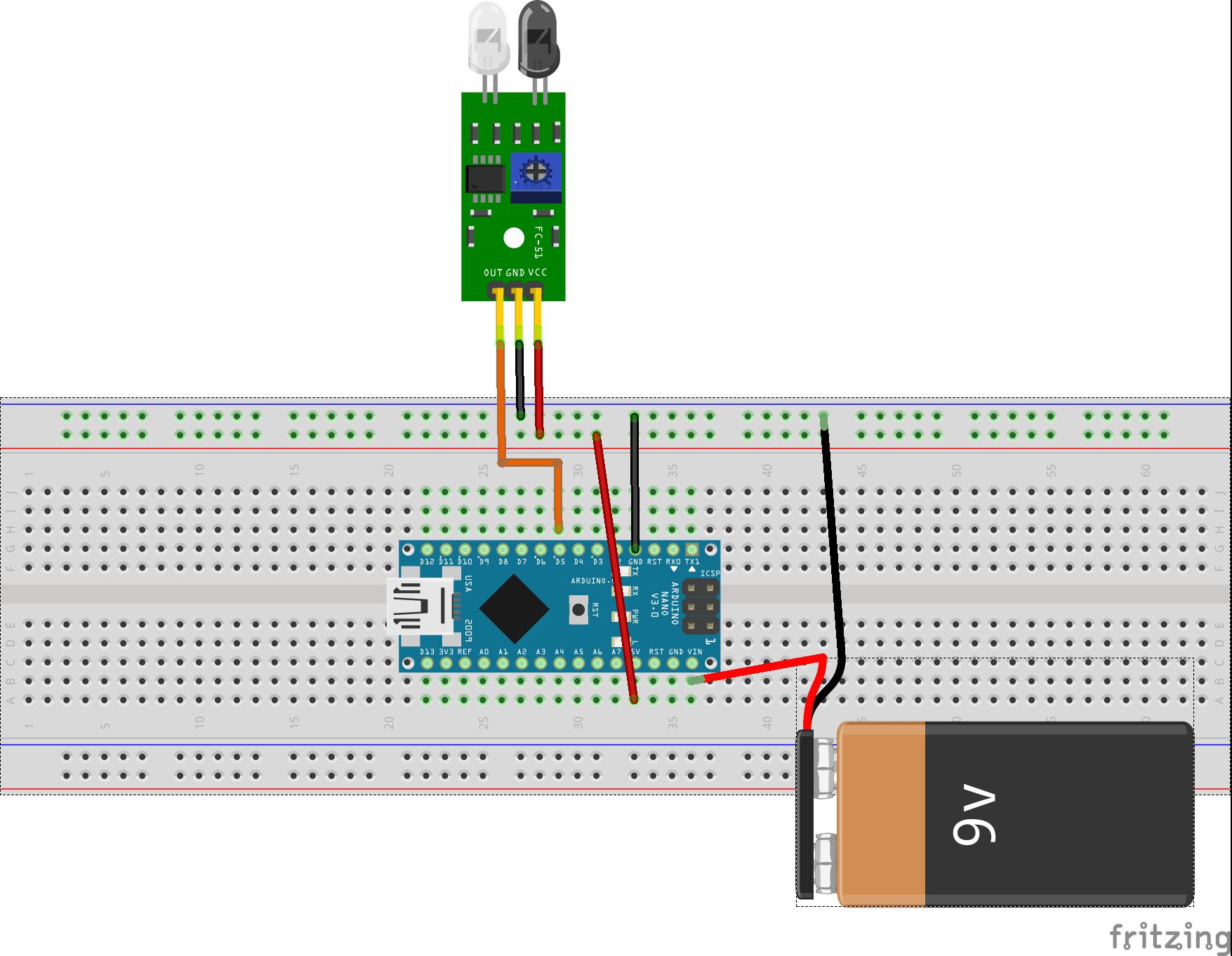 Ir Sensor Circuit Diagram