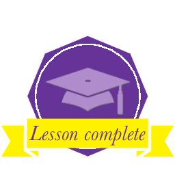 Graduation hat celebrating you having completed a lesson and gained new knowledge