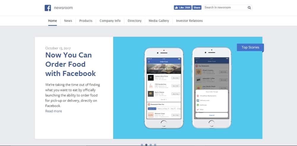 Facebook uses WordPress