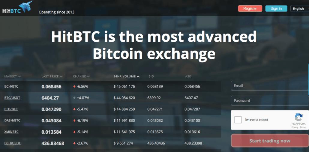 Coinbase alternative: HitBTC