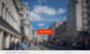 install python