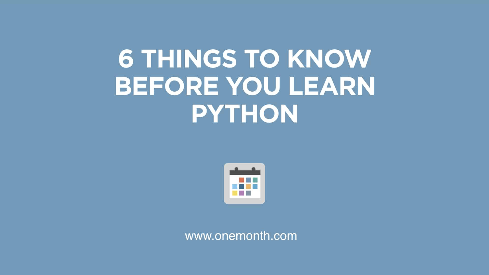 before you learn python beginners