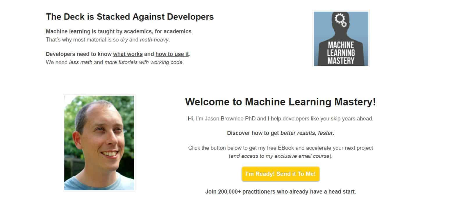 Learn Machine Learning/AI with Machine Learning Mastery