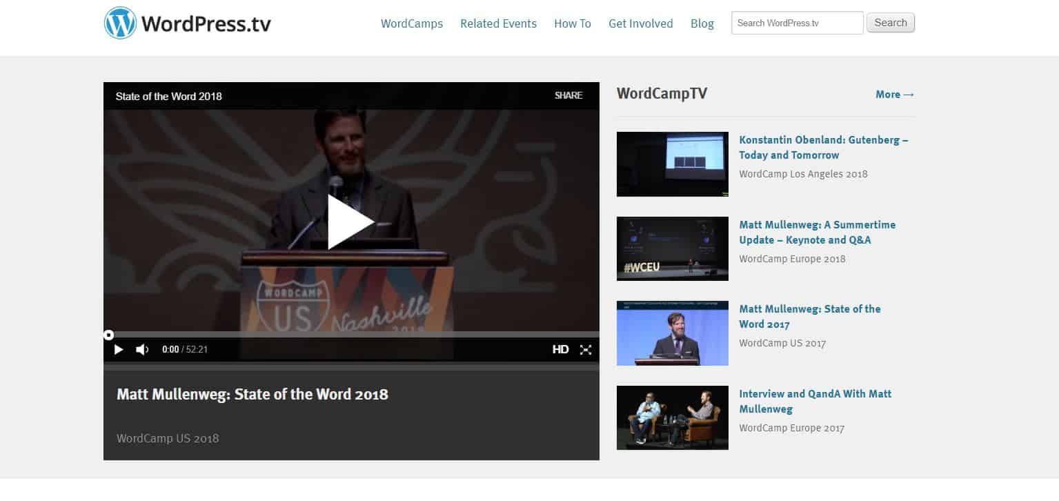 Learn WordPress with WordPress.tv