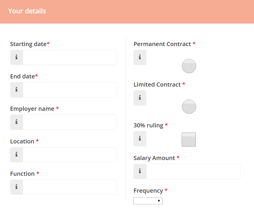 The Web Form to Fill using our automated python script