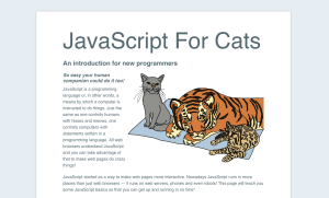Learn JavaScript with JavaScript for cats