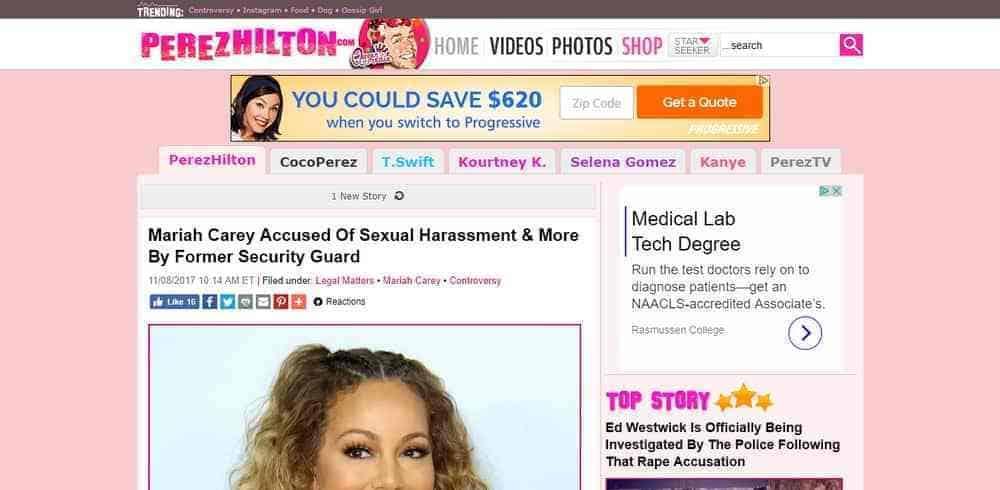 Perez Hilton uses WordPress