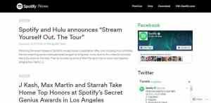Spotify uses WordPress
