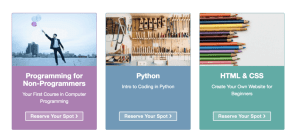One Month's Coding Courses