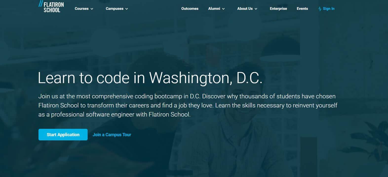 Flatiron School coding school review in DC