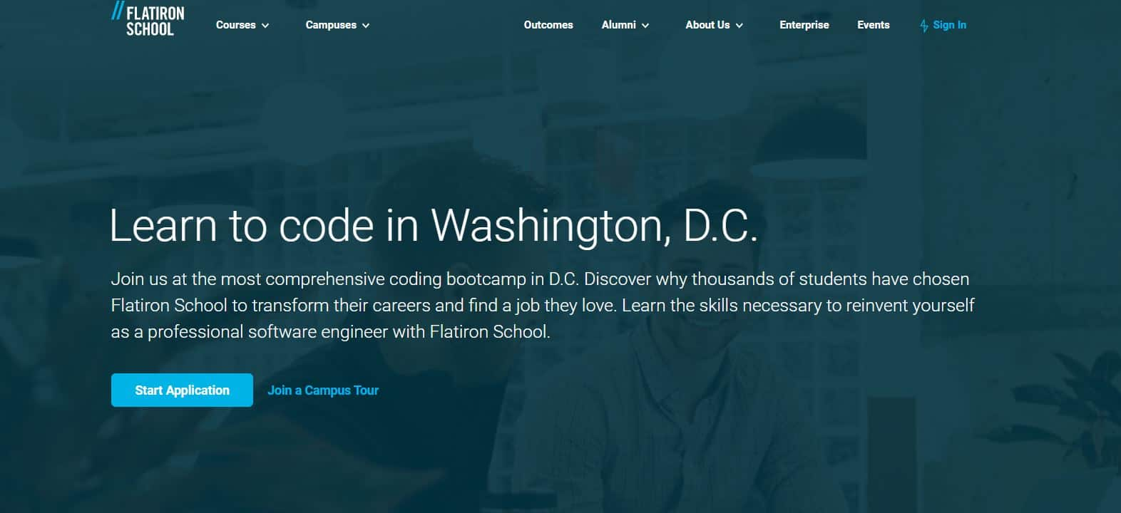 Flatiron School coding school review in DC