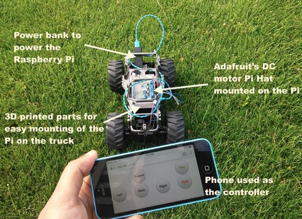 A Toy Monster Truck Powered by A Raspberry Pi