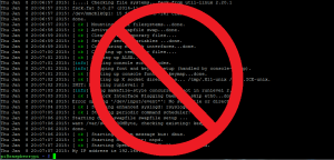 Disable verbose boot