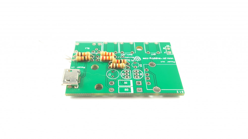 getting started with the pi supply switch \u2022 pi supply maker zonestep 2 \u2013 now lets solder the diodes to the pcb there are two diodes which insert into d1 and d2, then there is the red led which connected to d3