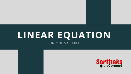Linear equation in one variable